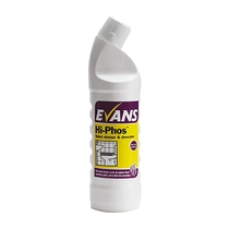 Evans Vanodine Hi Phos Heavy Duty Washroom & Toilet Cleaner & Descaler 1 Litre