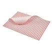 Greaseproof Paper Gingham Red 25x20cm