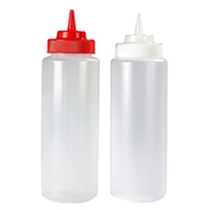 Widemouth Squeeze Bottle Clear 32OZ