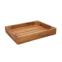 Acacia Display/Serving Crate Brown 25.4x33x5CM