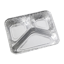 Foil Tray 3 Compartment 227x177x39MM