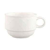 Bella Stacking Cup White 7.5OZ